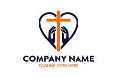 Modello unico di logo della chiesa royalty illustrazione gratis