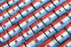 Modello urbano di lerciume della bandiera di Luxemburgo Fotografia Stock