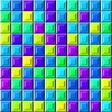 Modello variopinto astratto delle mattonelle di sollievo, fondo controllato multicolore semplice di struttura 3D, illustrazione s illustrazione vettoriale