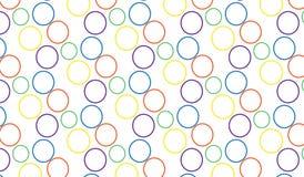 Modello variopinto astratto moderno semplice delle bolle Immagini Stock