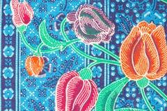 Modello variopinto dei sarong del batik Fotografie Stock Libere da Diritti