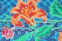 Modello variopinto dei sarong del batik Immagini Stock Libere da Diritti