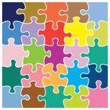 Modello variopinto del puzzle Fotografia Stock