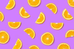Modello variopinto della frutta delle fette arancio fotografie stock libere da diritti
