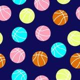 Modello variopinto delle palle di pallacanestro Fotografia Stock