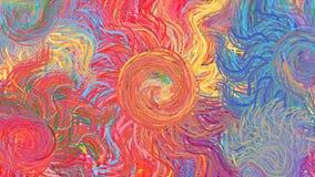 Modello variopinto di arte moderna dell'arcobaleno di turbinio astratto dei cerchi Fotografia Stock
