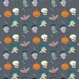 Modello variopinto di divertimento di Halloween del tessuto. Immagini Stock
