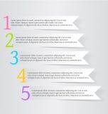 Modello variopinto di progettazione di infographics moderno con Fotografie Stock