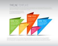 Modello variopinto di rapporto di cronologia di Infographic Immagine Stock