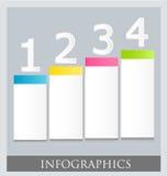 Modello variopinto infographic moderno di progettazione Immagine Stock