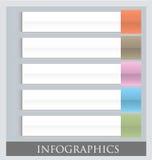 Modello variopinto infographic moderno di progettazione Fotografie Stock