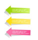 Modello variopinto infographic moderno di progettazione Fotografia Stock Libera da Diritti