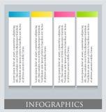 Modello variopinto infographic moderno di progettazione Immagini Stock