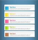 Modello variopinto infographic moderno di progettazione Immagini Stock Libere da Diritti