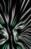 Modello variopinto unico dell'strisce colorate ondulate su un fondo nero Fotografia Stock Libera da Diritti