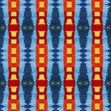 Modello variopinto vivo caldo della lana per l'album per ritagli, montaggio senza cuciture del caleidoscopio per il cuscino, cope Fotografia Stock Libera da Diritti