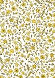 Modello vegetale giallo Royalty Illustrazione gratis