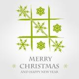 Modello verde 4 di Buon Natale Immagine Stock Libera da Diritti