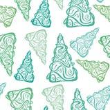 Modello verde astratto degli abeti illustrazione di stock