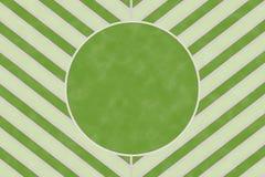 Modello verde della banda del gallone della natura con la cornice di testo del cerchio Fotografia Stock