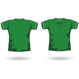 Modello verde della camicia di polo Fotografia Stock