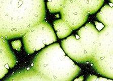 Modello verde delle strutture della cellula di frattale Immagini Stock