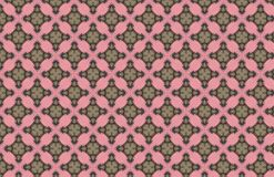 Modello verde di Art Deco Pink Geometric Design illustrazione di stock