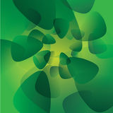 Modello verde di incandescenza del fondo di vettore Fotografie Stock
