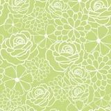Modello verde di vettore di struttura dei fiori royalty illustrazione gratis