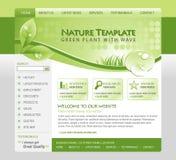 Modello verde di Web di Eco della natura Fotografie Stock Libere da Diritti