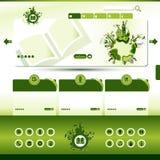 Modello verde di Web site di eco Fotografie Stock Libere da Diritti
