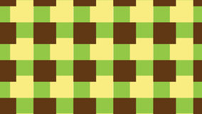 Modello verde e marrone semplice del blocco Fotografie Stock