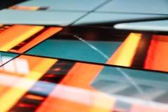 Modello verde ed arancio di tecnologia del pavimento del LED Immagini Stock