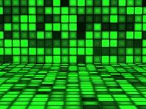 Modello verde fatto dai cubi leggeri Immagine Stock Libera da Diritti