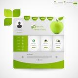 Modello verde pulito moderno del sito Web di affari Fotografie Stock Libere da Diritti