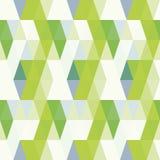 Modello verde senza cuciture di vettore con il fondo dei triangoli Illustrazione di Stock