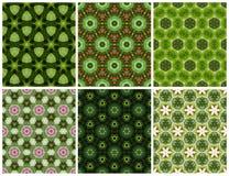 Modello verde senza cuciture geometrico Fotografia Stock Libera da Diritti