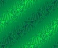 Modello verde sulla carta da imballaggio Fotografia Stock Libera da Diritti