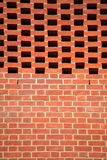 Modello verticale del muro di mattoni Fotografia Stock Libera da Diritti