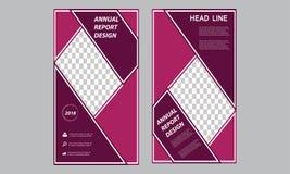 Modello verticale dell'aletta di filatoio di affari - rotoli sul rapporto annuale fresco dell'opuscolo dell'insegna - modello lun illustrazione vettoriale
