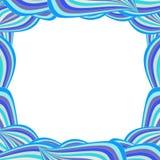 Modello vibrante sveglio con le linee e lo spazio ricci blu Fotografia Stock Libera da Diritti