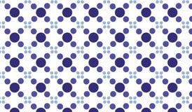Modello viola astratto moderno semplice delle mattonelle dei cerchi Immagine Stock