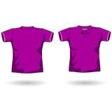 Modello viola della camicia di polo Fotografia Stock