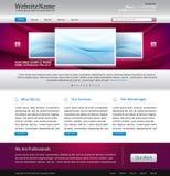Modello viola di disegno di Web site Fotografia Stock Libera da Diritti