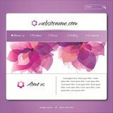 Modello viola di disegno di Web site di vettore Fotografia Stock Libera da Diritti