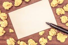 Modello vuoto di affari per la disposizione per lo strato del blocco note di colore dello spazio in bianco del buono del manifest fotografie stock libere da diritti
