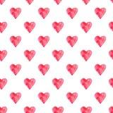 Modello watercolor5 del cuore Fotografia Stock