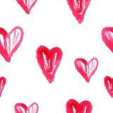 Modello watercolor3 del cuore Fotografia Stock Libera da Diritti