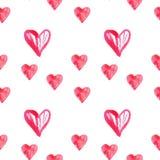 Modello watercolor6 del cuore Fotografia Stock Libera da Diritti