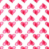 Modello watercolor4 del cuore Fotografia Stock